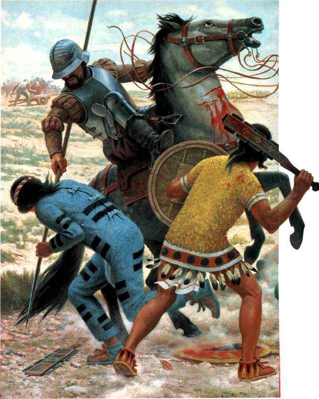 How did the Spanish defeat the Incas and Aztecs?