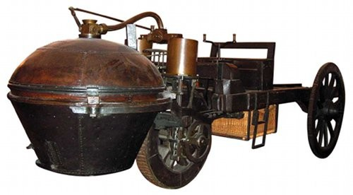Who built the first motor vehicle?