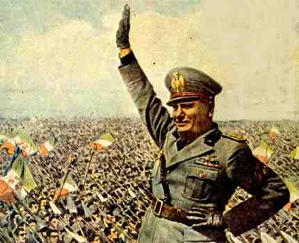 Who founded Fascism? Mussolini that's who.