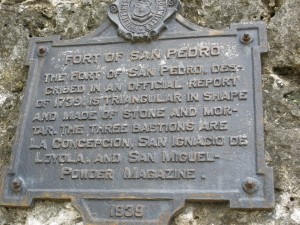 Plaque at Fort San Pedro